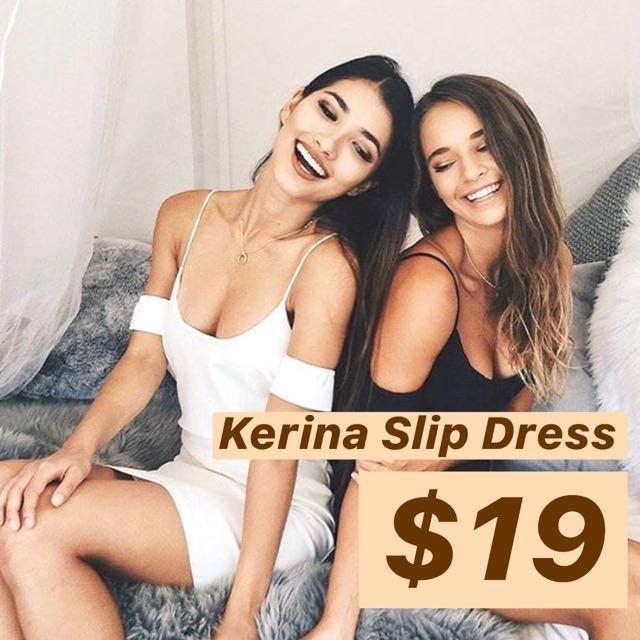 INSTOCKS Kerina Slip Dress - White