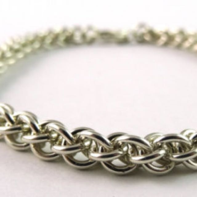 Jens Pind Bracelet •Stainless Steel Chain Mail Weaved