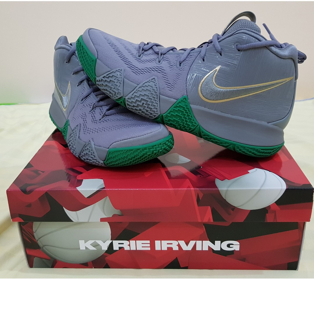 10096abc7322 Kyrie 4 Parquet Legends Boston Celtics Color US9