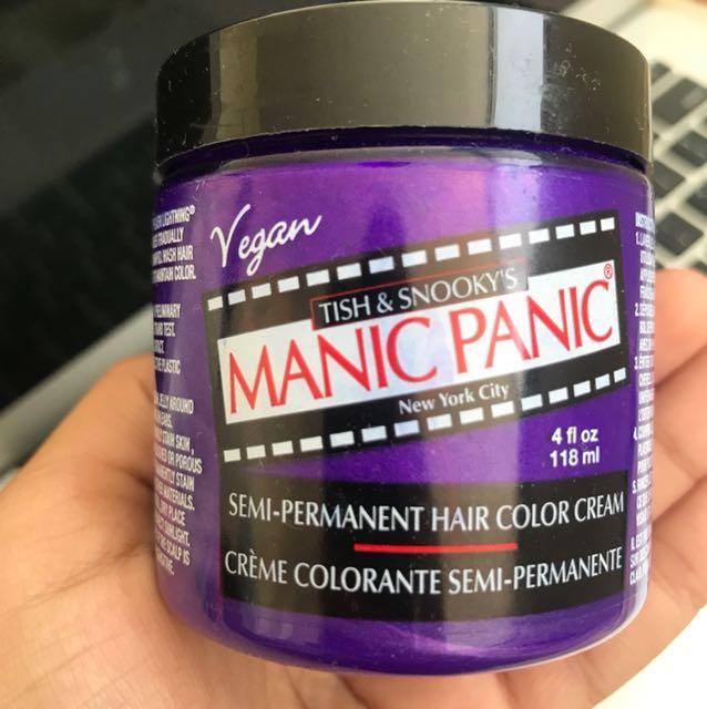 Manic panic ultra violet temporary hair dye