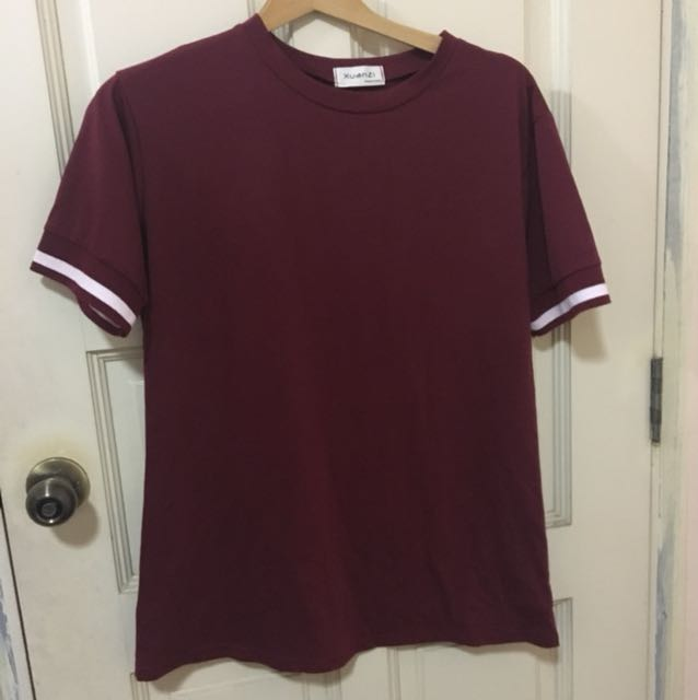 Maroon Shirtdress