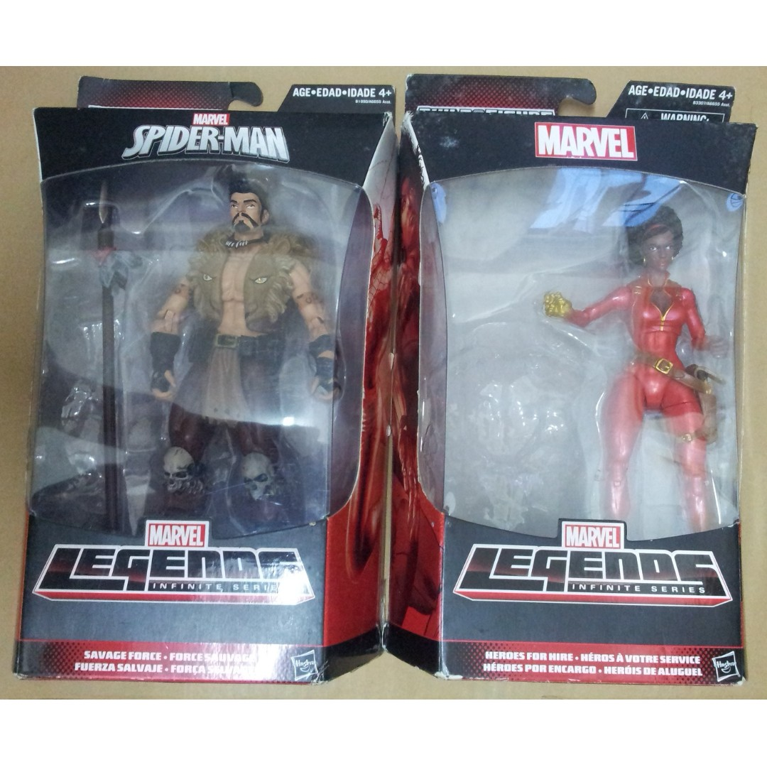 Marvel Legends Spider-Man 5隻 figures 不連BAF ( Scarlet Spider, Superior Venom, Kraven, Misty Knight, White Tiger )