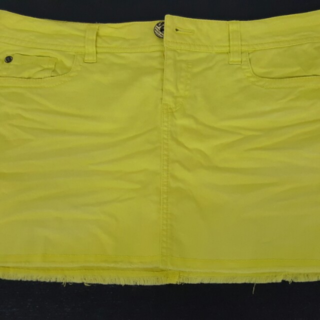only neon yellow skirt