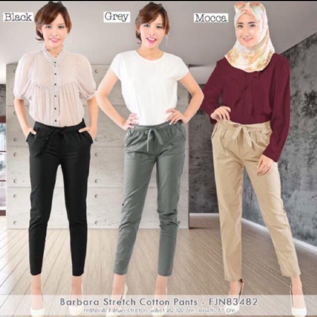 New black cotton pants / celana kerja hitam (nett)