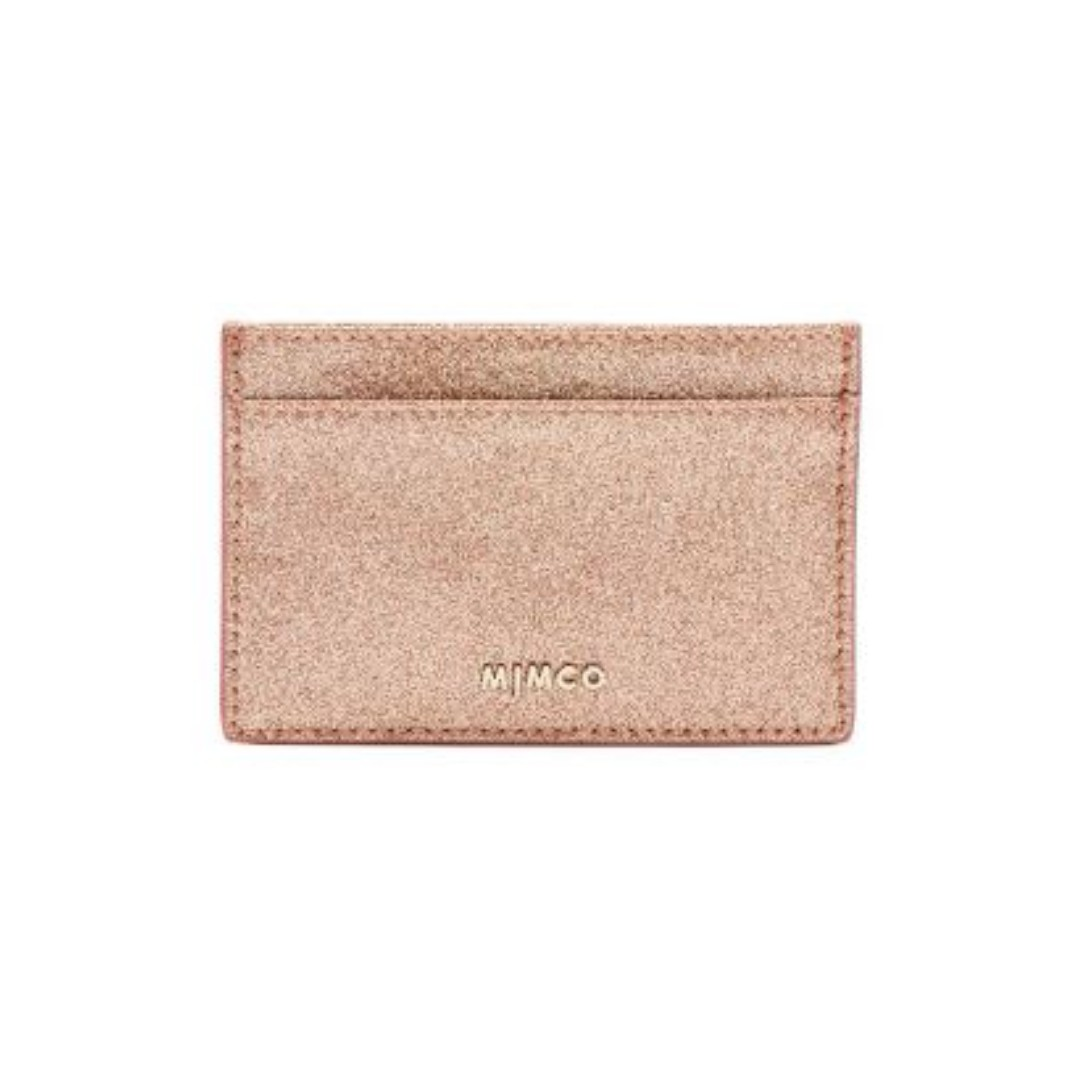 New! Mimco Shimmer Card Case Rose Gold RRP$49.95