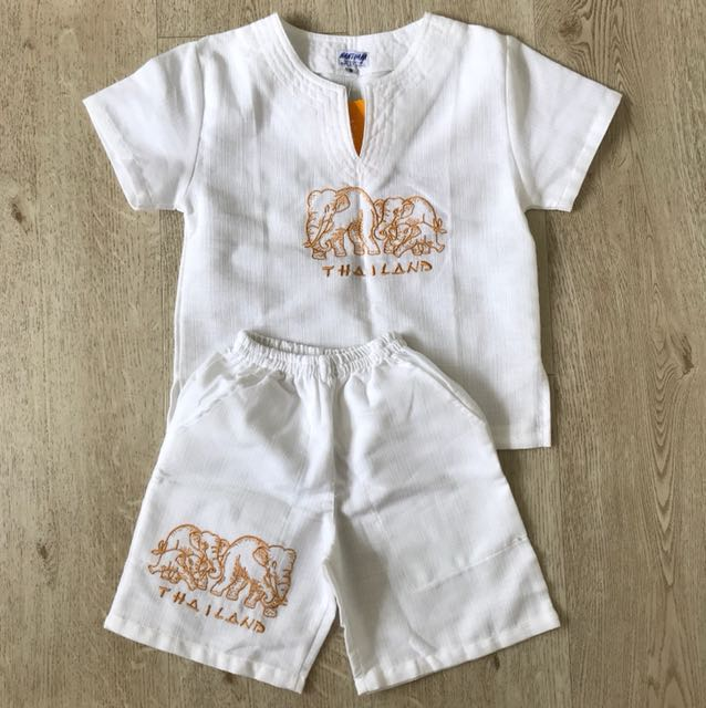 New Thailand Traditional Boy Costume Babies Kids Boy S Apparel