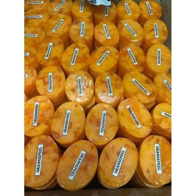 Orange peeling soap