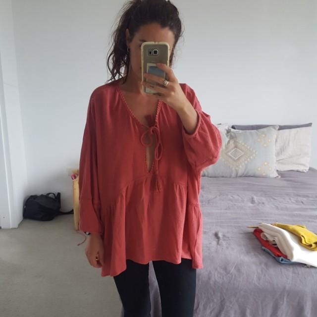 Oversized rusty shirt