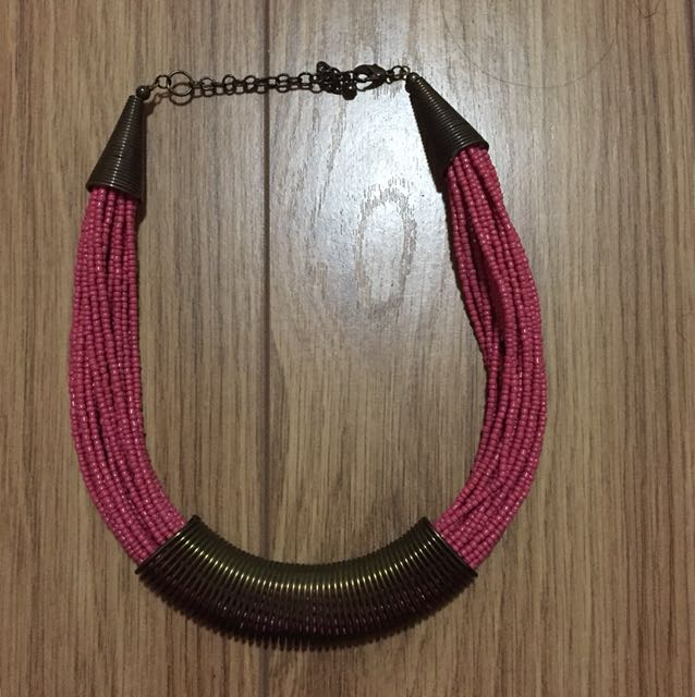 Pinkish Red Necklace