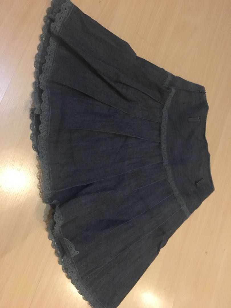 Preloved jeans skirt