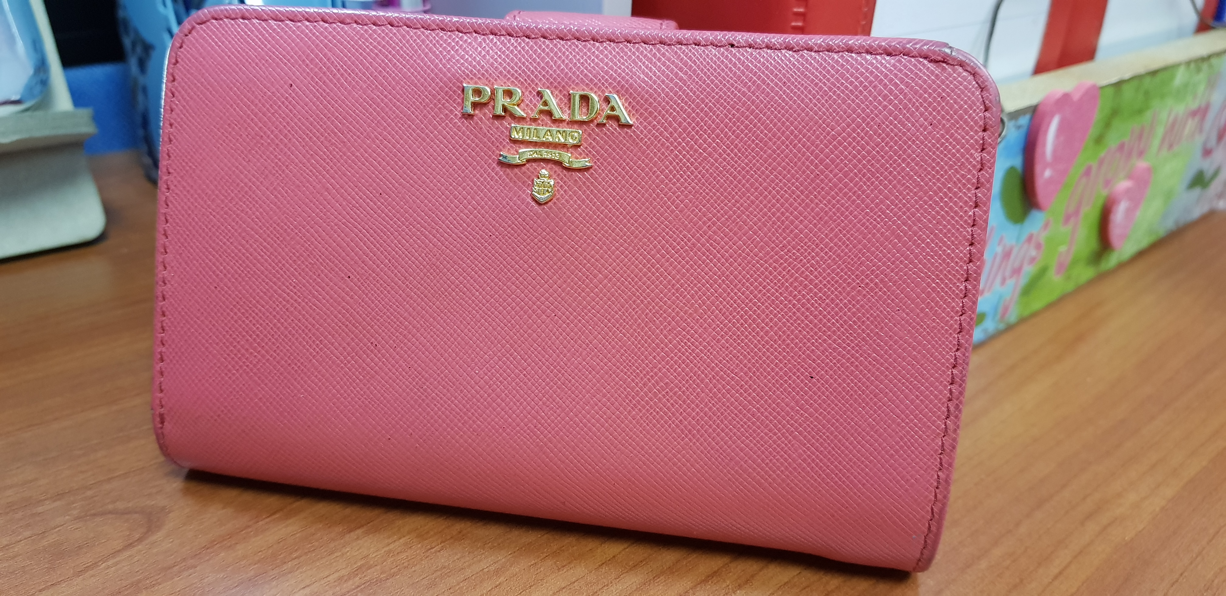 4338c3fd805f Prada 1ML225 Saffiano Leather French Wallet with Coin Zip Pocket-