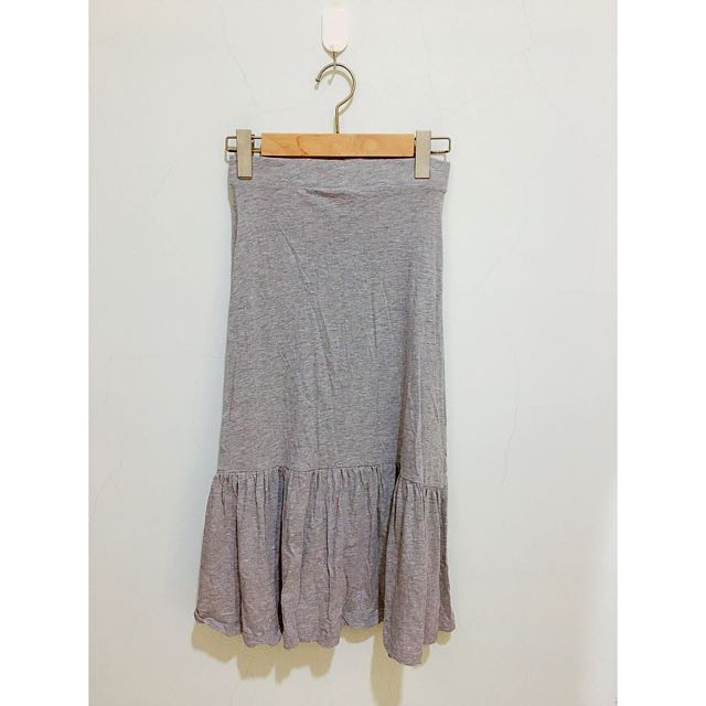 Pull&Bear 灰色魚尾裙
