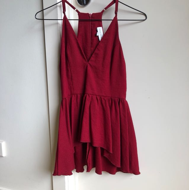 Red Luck & trouble top size 6