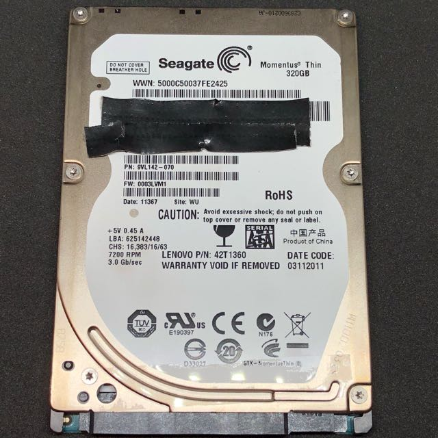Seagate 320GB notebook laptop Ps3 hard disk