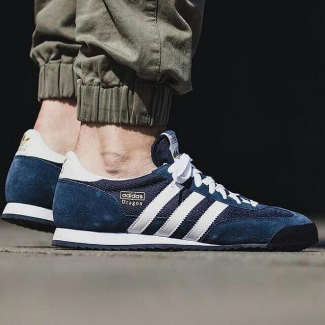 Sepatu Adidas Dragon Navy, Men's Fashion, Men's Footwear on