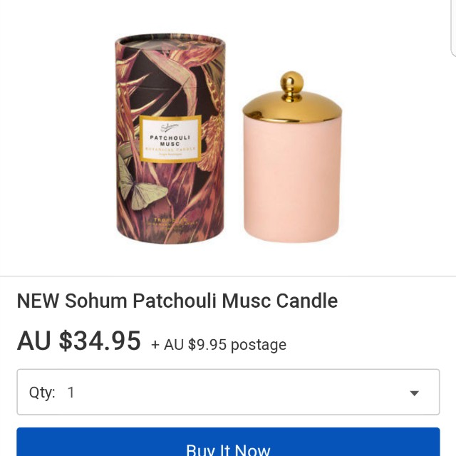 SOHUM Patchouli Musc Candle with lid