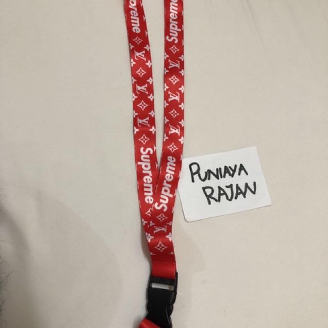 Supreme X Louis Vuitton Lanyard, Auto Accessories On Carousell
