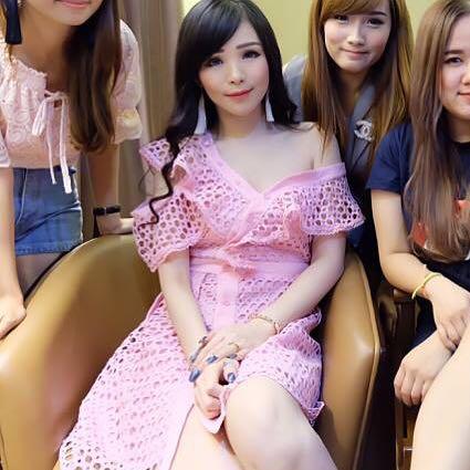 Three Floor Inspired Pink Off One Shoulder Dress