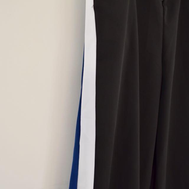 Truda moda 側邊雙色顯瘦運動褲