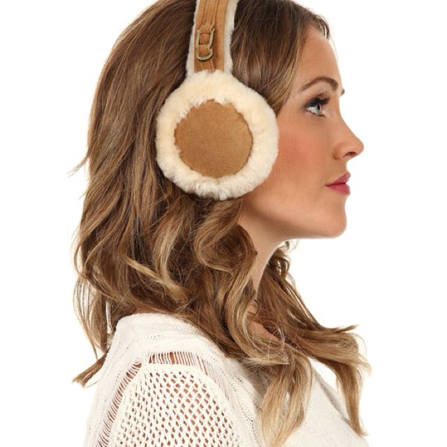 UGG sheepskin shearling brown chestnut earmuffs