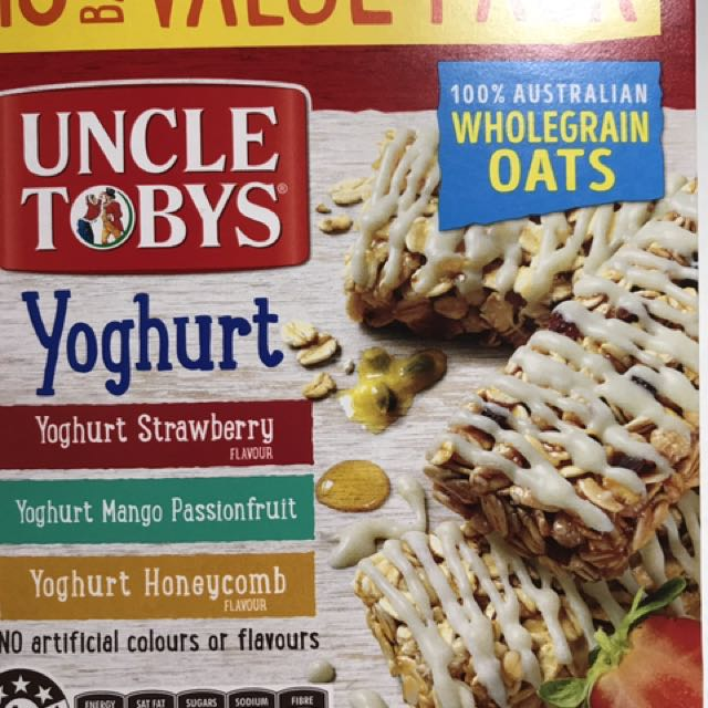 Uncle Toby's Muesli Bars/Protein Bar/ Diet Bar