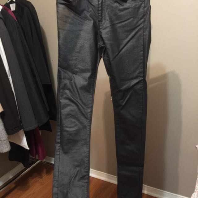 Vero Moda Faux Leather High Wasted Pants