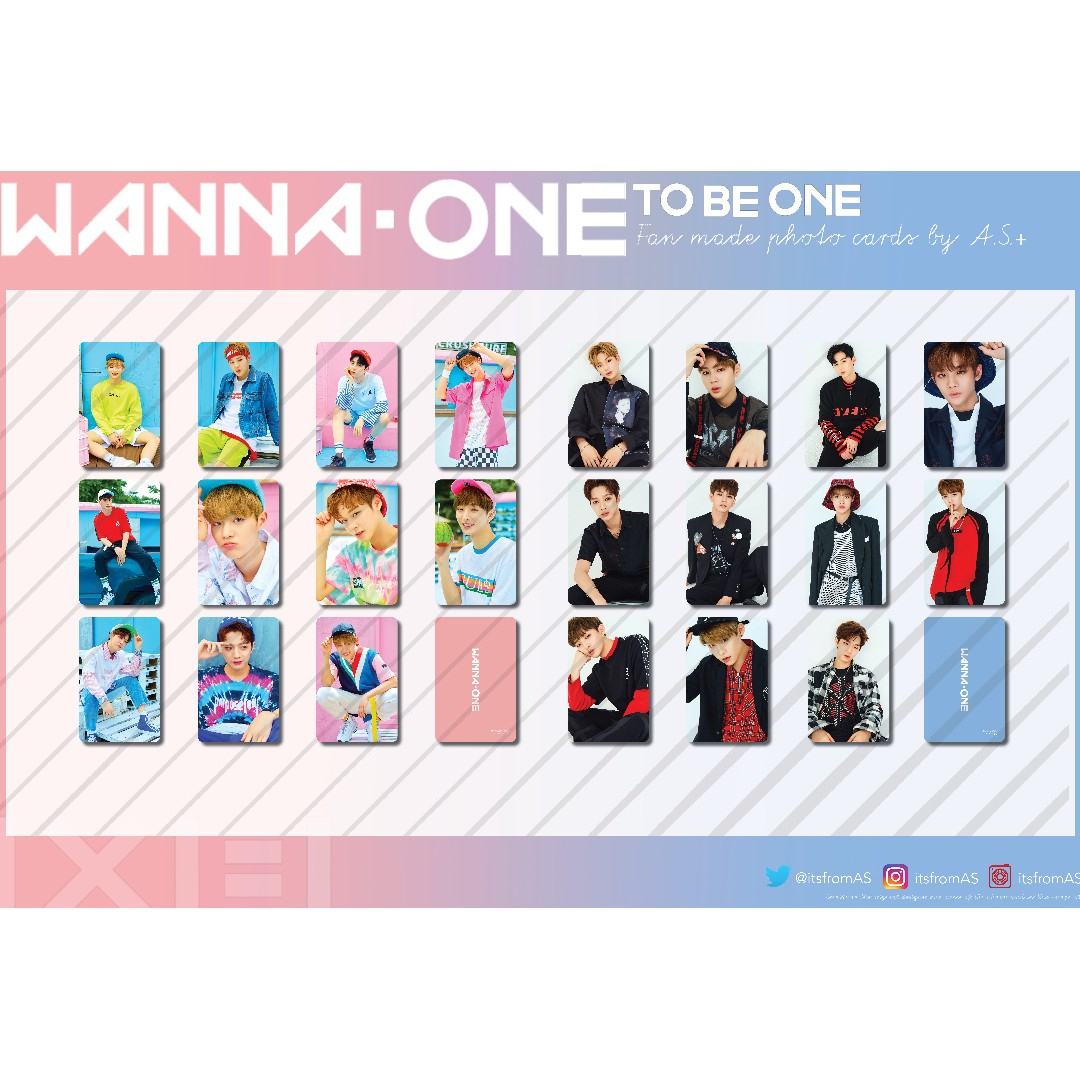 Wanna One Debut, To Be One & Nothing Without You Photo Cards Unofficial