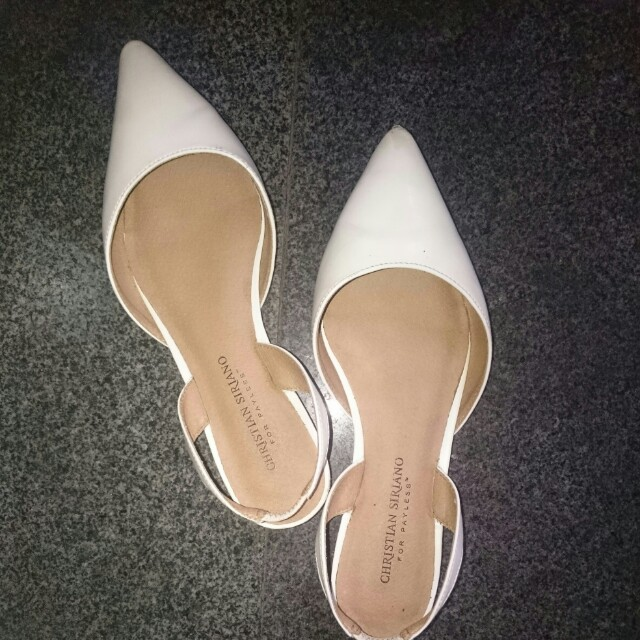 White D'orsay / payless shoes