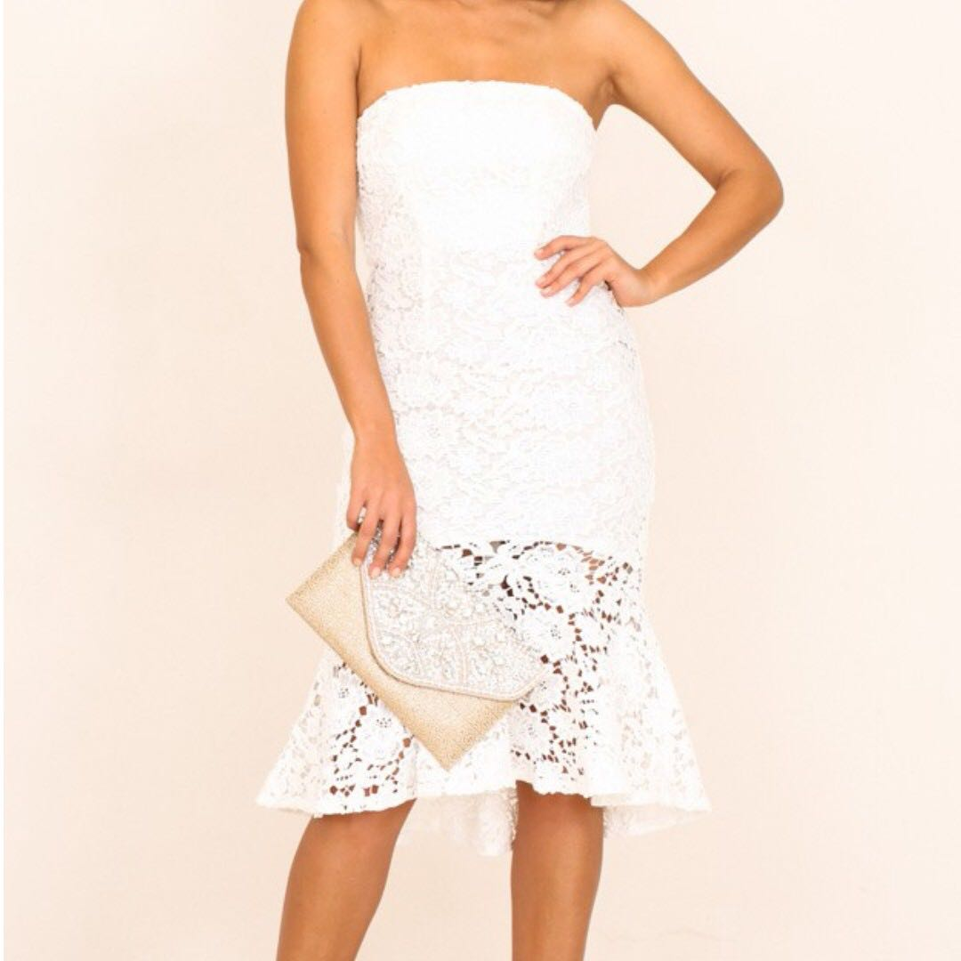 White Lace dress from showpo