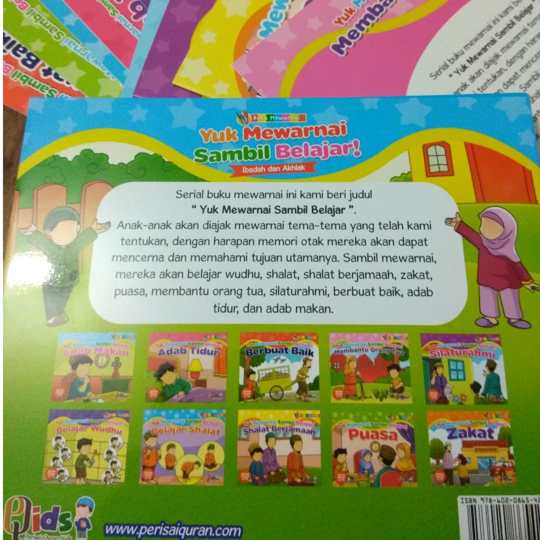 Yuk Mewarnai Sambil Belajar Books & Stationery Magazines