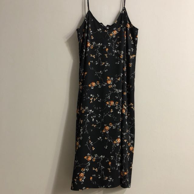 Zara floral camisole dress