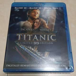 Titanic 3D and 2D Bluray combo New and sealed | 6 hours of Extras | 4 discs set
