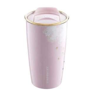[2018 Spring] Starbucks 12oz 粉紅色櫻花雙層咖啡杯