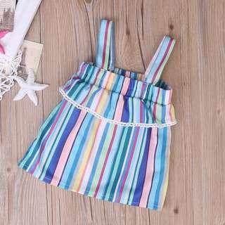 🦁Instock - colorful dress, baby infant toddler girl children sweet kid happy abcdefg