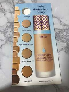 Tarte double duty shape tape hydrating foundation blister pack