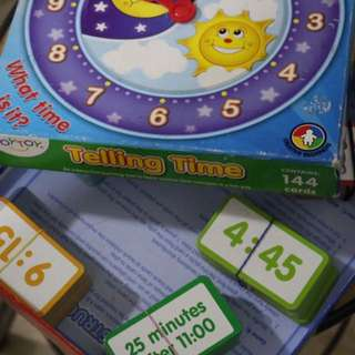 Telling Time Board Game
