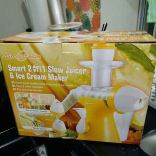 Smartech 2 in 1 slow juicer & ice cream maker