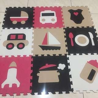 Karpet puzzle 9biji, masih bersih no minus