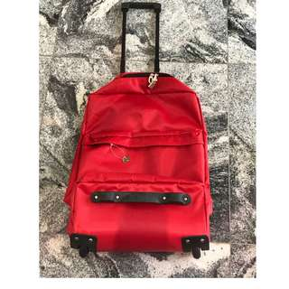 Red Trolley Bag with lock