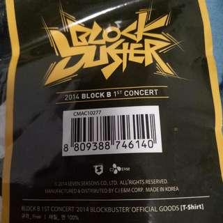 Block B Tshirt 2014 Concert Merchandise Kpop