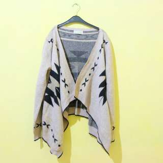 Navajo knit cardigan outer