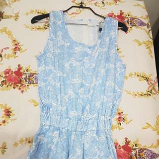 Long blue rose jumpsuit
