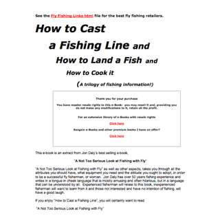 How to Cast a Fishing Line and How to Land a Fish and How to Cook It  eBook