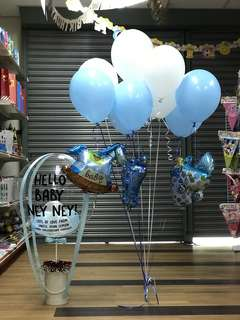 Baby Shower Hot Air Balloon Set