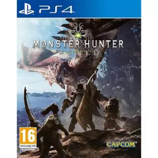 Monster hunter world US version