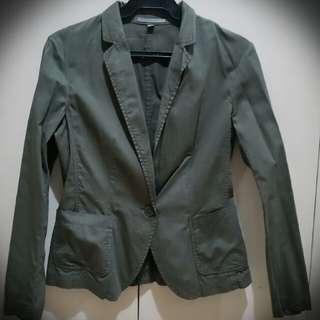 Uniqlo Army Green Blazer