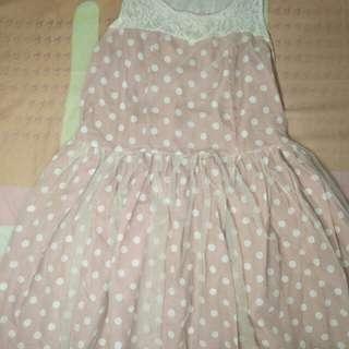 Mini Dress Tutu Polkadot