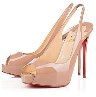 "Christian louboutin ""private number"" nude"