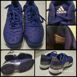 dark purple ADIDAS sneakers US 8 BARRICADE spots polka dots