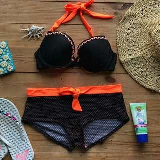 Black-orange bikini